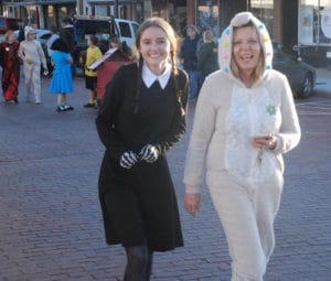 2 women in Halloween parade